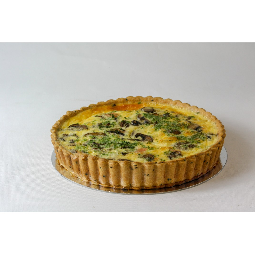 Quiche: Bacon, Mushroom and Leek