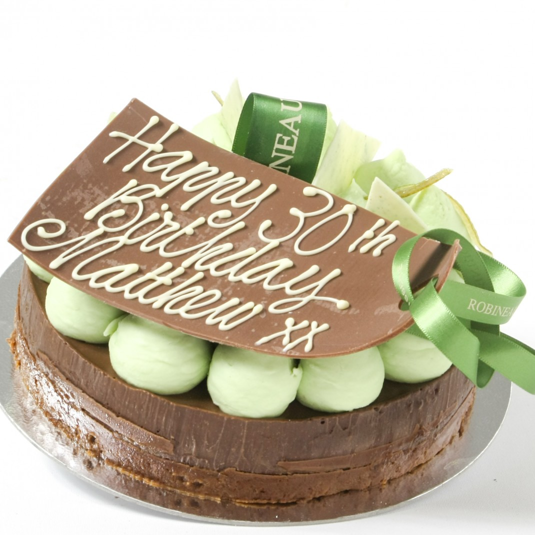 "6"" Praline Torte with Mint & Lime"