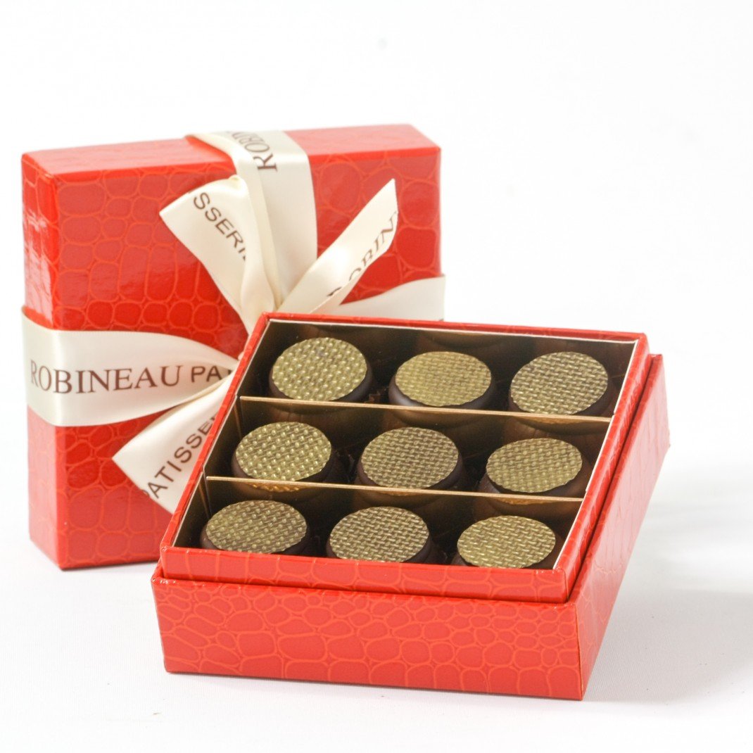 A Gift Box of 9: Sea Salted Caramel Chocolates