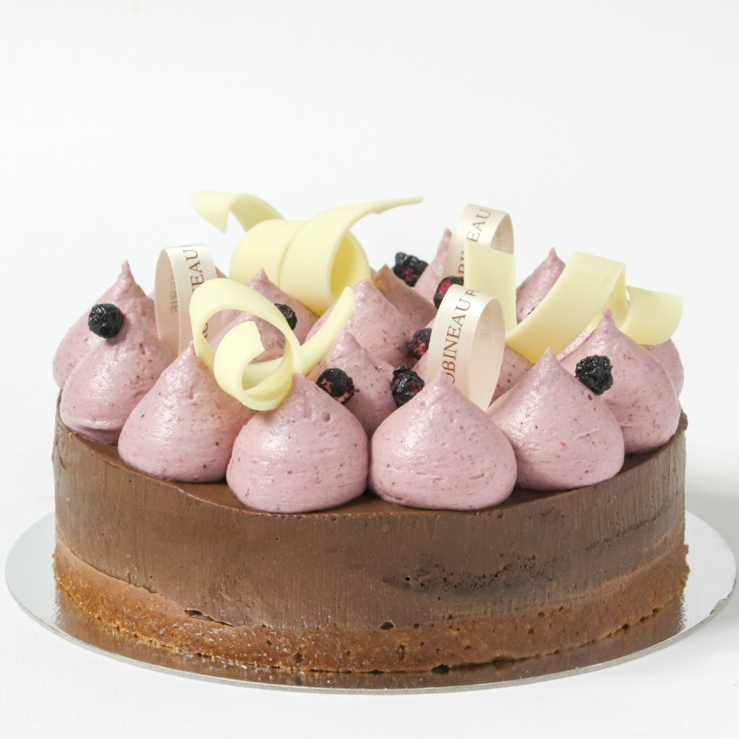 "6"" Praline Torte with Blackcurrant & White Chocolate"