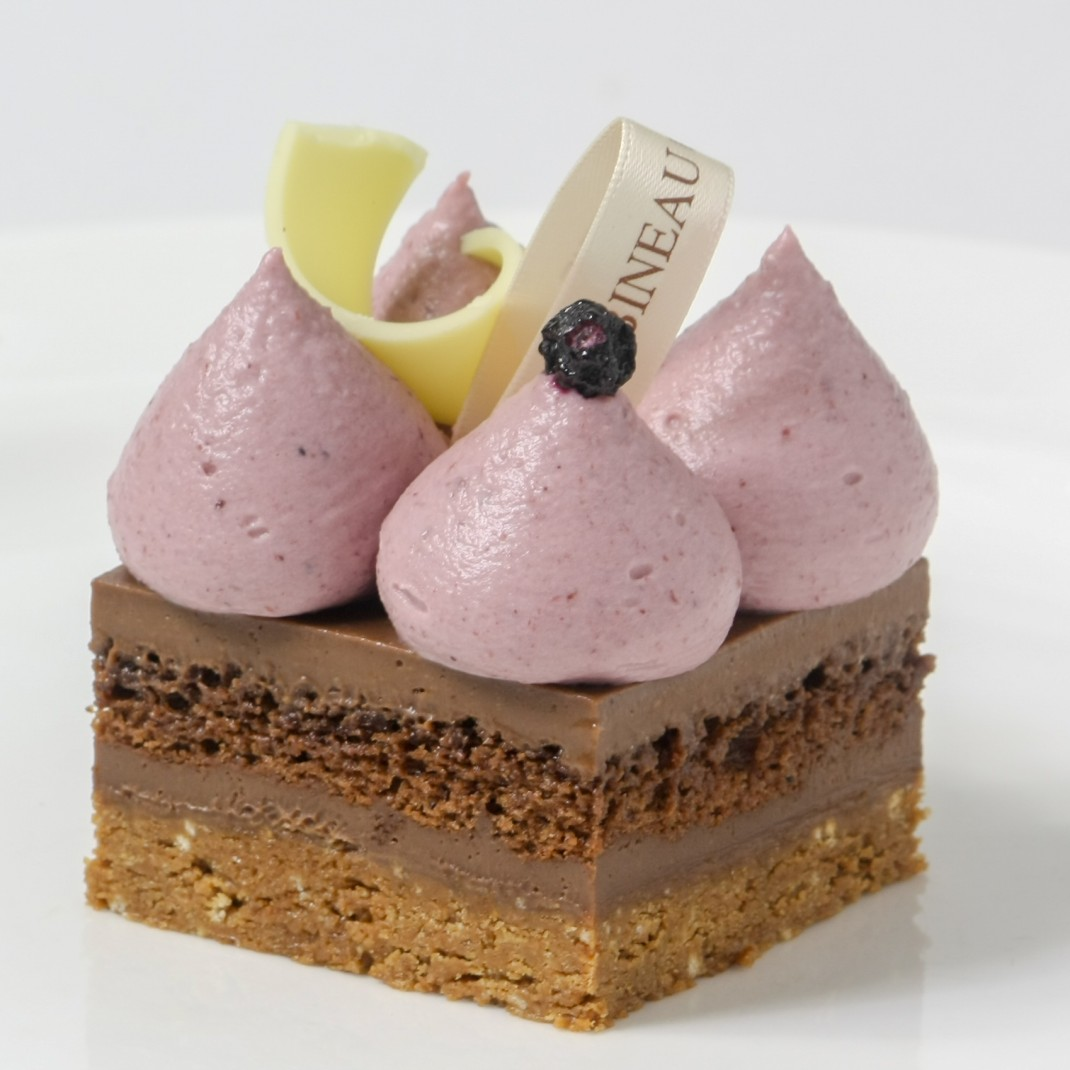 Praline Torte with Blackcurrant & White Chocolate