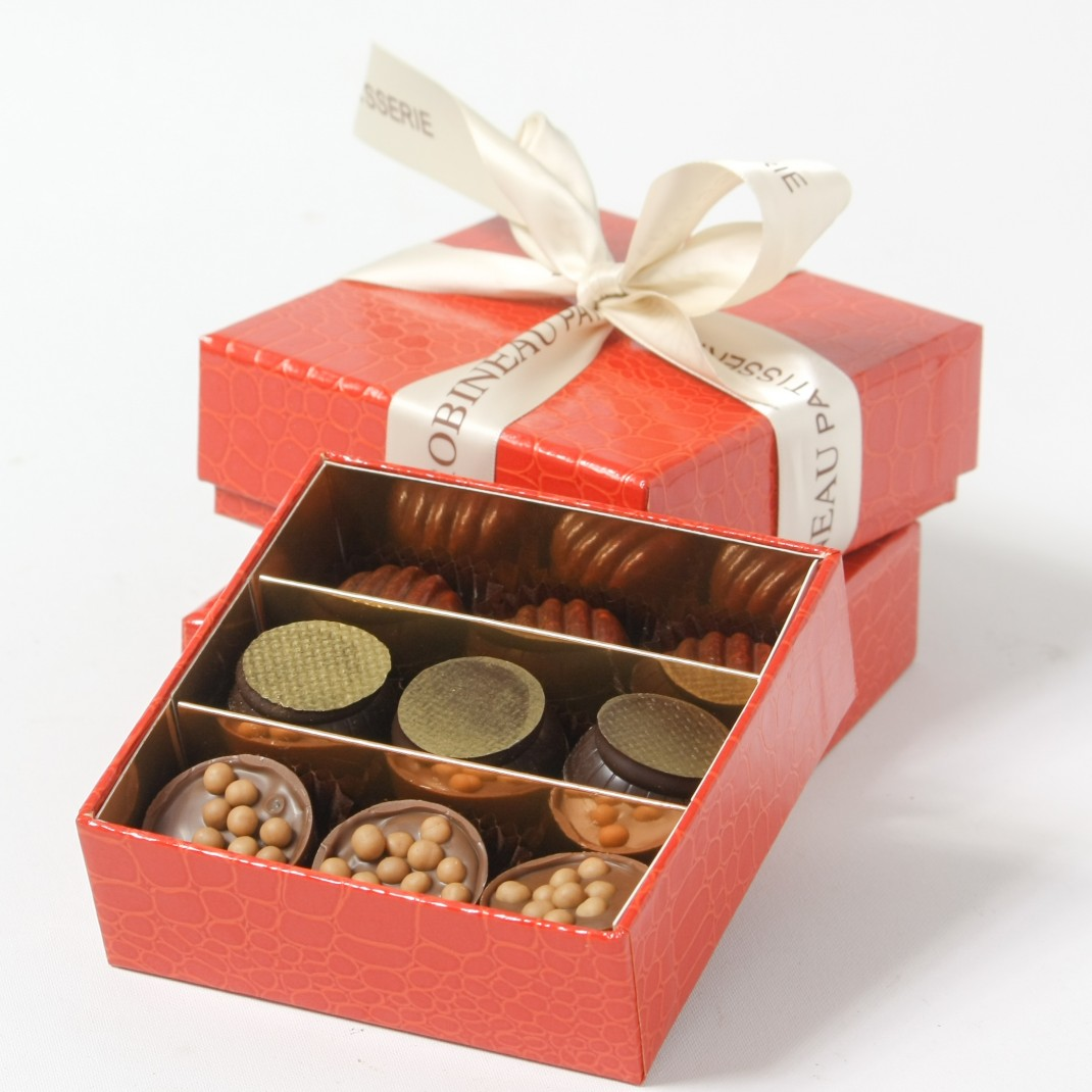 A Gift Box of 9: Chocolate Selection