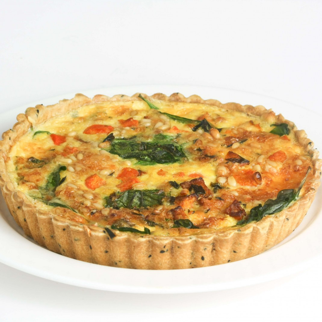 Quiche: Roasted Butternut Squash, Sage, Onion and Pinenut